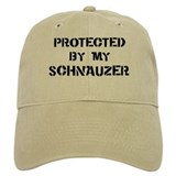 Protected by Schnauzer Baseball Cap