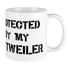 Protected by Rottweiler Mug