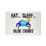 Eat ... Sleep ... BLUE CRABS Rectangle Magnet