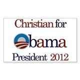 Christian for Obama 2012 Rectangle Decal