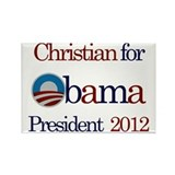 Christian for Obama 2012 Rectangle Magnet