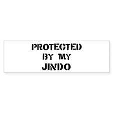 Protected by Jindo Bumper Sticker (50 pk)