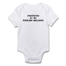 Protected by English Bulldog Infant Bodysuit