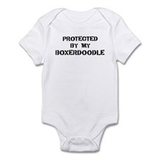Protected by Boxerdoodle Infant Bodysuit