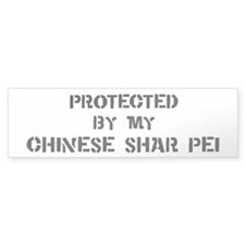Protected by Chinese Shar Pei Bumper Bumper Sticker