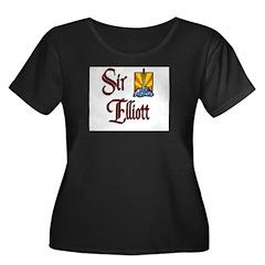 Sir Elliott Women's Plus Size Scoop Neck Dark T-Sh