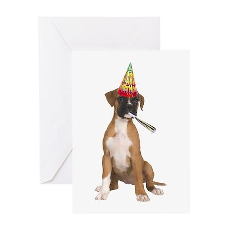 CafePress > Birthday Greeting Cards > Boxer Birthday Ca