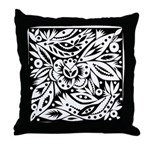 Black and White Wedding Throw Pillow