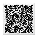 Black and White Wedding Tile Coaster