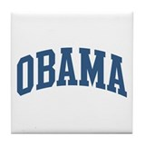 Obama Collegiate Style Name Tile Coaster