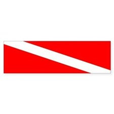Diver Down Bumper Bumper Sticker
