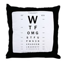 1337 eYe Ch4rt Throw Pillow