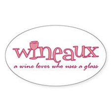 Wineaux def Oval Decal