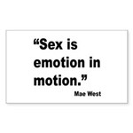 Mae West Emotion Quote Rectangle Sticker 10 pk)