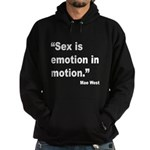 Mae West Emotion Quote (Front) Hoodie (dark)