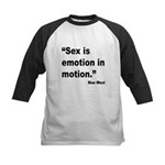 Mae West Emotion Quote Kids Baseball Jersey