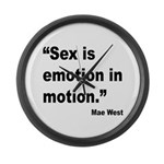 Mae West Emotion Quote Large Wall Clock