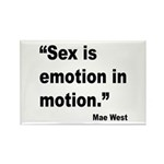 Mae West Emotion Quote Rectangle Magnet (10 pack)