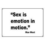 Mae West Emotion Quote Banner