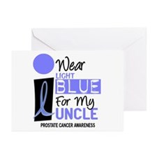 I Wear Light Blue For My Uncle 9 Greeting Cards (P