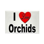 I Love Orchids Rectangle Magnet (10 pack)