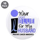 "I Wear Light Blue For My Husband 9 3.5"" Button (10"