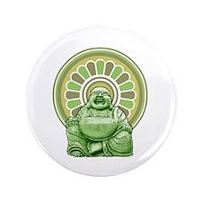 "Laughing Buddha 3.5"" Button"