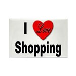 I Love Shopping Rectangle Magnet (10 pack)