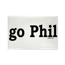 go Phil Rectangle Magnet