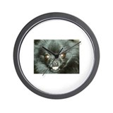 Black Pomeranian Wall Clock