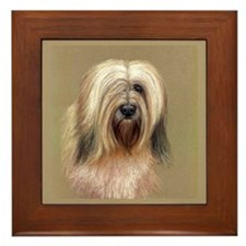 Tibetan Terrier Framed Tile