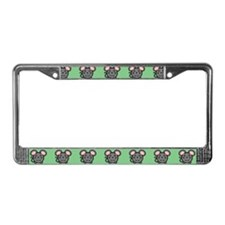 Gray Mousie License Plate Frame