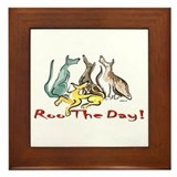 Greyhound Roo Color Framed Tile