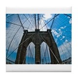 Brooklyn Bridge III Tile Coaster
