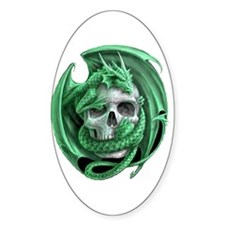 Dragon and Friend 3 Oval Decal
