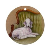 Bedlington-Her Royal Highness Ornament (Round)