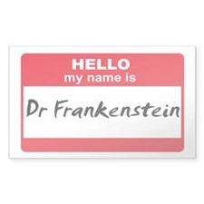 My Name Is Dr Frankenstein Rectangle Decal