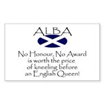 No Kneeling Horizontal Rectangle Sticker 10 pk)