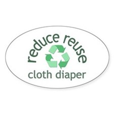 Recycle & Cloth Diaper - Oval Decal