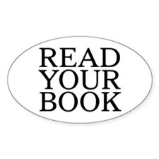 Read Your Book Oval Decal