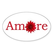 Amore Oval Sticker (10 pk)