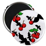 "Gothic Bats & Cherries 2.25"" Magnet (10 pack)"