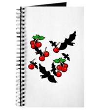 Gothic Bats & Cherries Journal
