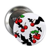 "Gothic Bats & Cherries 2.25"" Button (10 pack)"
