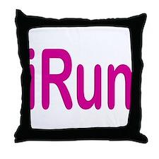 iRun pink Throw Pillow