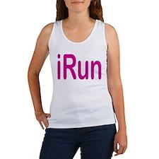 iRun pink Women's Tank Top