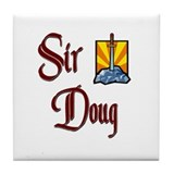 Sir Doug Tile Coaster
