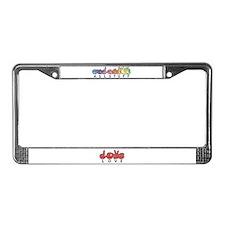 Captioned LOVE License Plate Frame