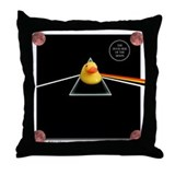 Duck Side of the Moon Black Throw Pillow