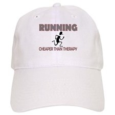 Running Cheaper Than Therapy Baseball Cap